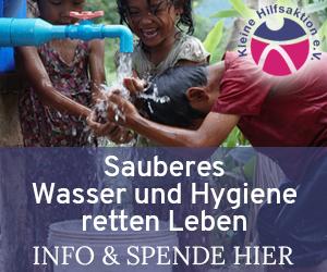 sauberes Wasser rettet Leben